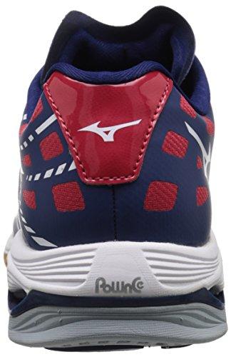 Mizuno Wave Lightning Z Toile Baskets Navy-White-Red