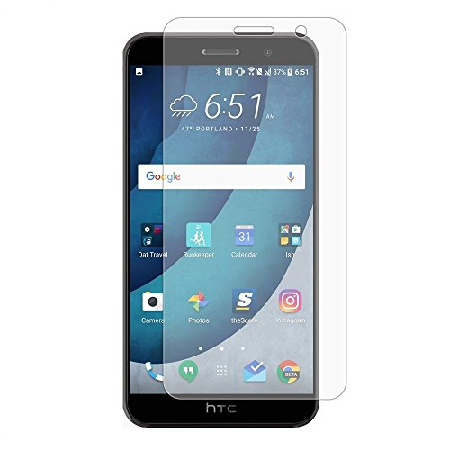 HTC U11schermo, HTC U 11protezione schermo in vetro temperato, [durezza 9H] [anti-graffio] [infrangibile] [FACILE installazione] by Ample®