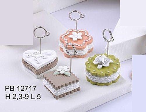 12 pz clip bomboniera matrimonio comunione cresima segnaposto pasticcino cake in resina mandorle bomboniere by paben
