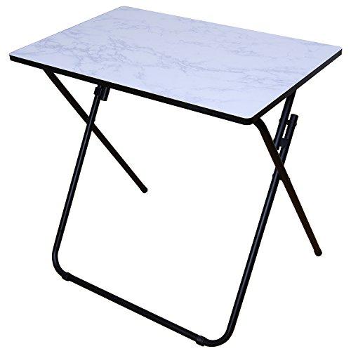 Lifewit tavolino portatile pieghevole in legno tavolino di spuntino per patio /giardino/all'aperto/interno, bianco