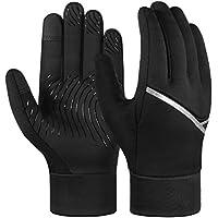 LIOOBO Warm Sports Flip Top Fingerless Gloves Winter Anti-slip Gloves Half Finger Mittens for Cycling Fishing Riding