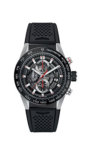 TAG Heuer Men's Carrera 43mm Black Rubber Band Automatic Watch CAR201V.FT6046