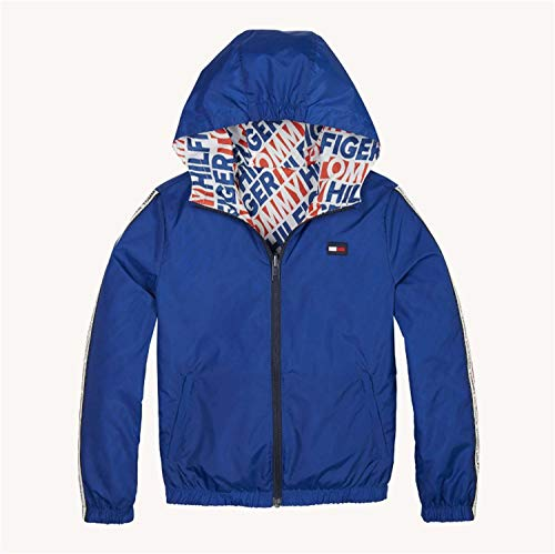 Tommy Hilfiger KB0KB04725 Reversible Hooded JACKEN UND MÄNTEL Unisex Junior Bluette 10Y - Reversible Hooded Mantel