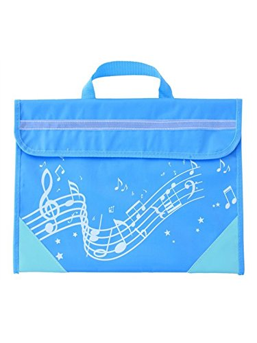 Musicwear: Wavy Stave Music bag (Light Blue)