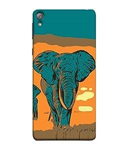 PrintVisa Designer Back Case Cover for Sony Xperia E5 Dual :: Sony Xperia E5 (Nature Travel Jungle Safari African Wildlife Brown)