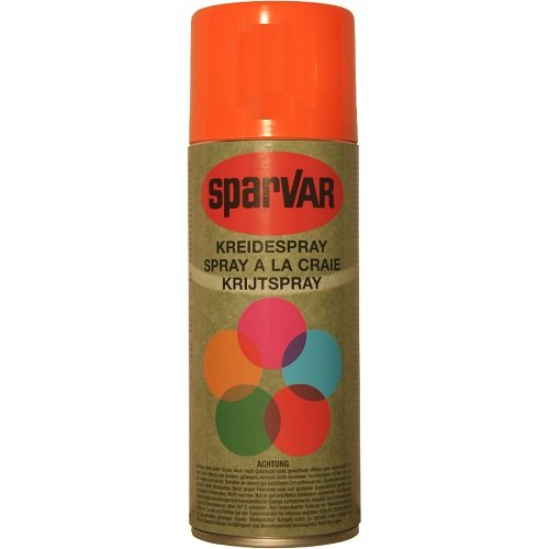 SparVar Kreidespray mit Überkopfdüse, 400 ml, orange, 6000923 (Spray-markierung Kreide)