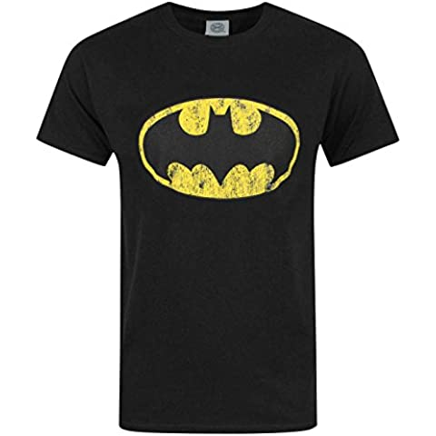 Official Batman Distressed Logo Men's T-Shirt