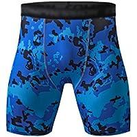 YiJee Hombre Secado Rápido Fitness Deporte Pantalones Cortos Aptitud Jogging Compresión