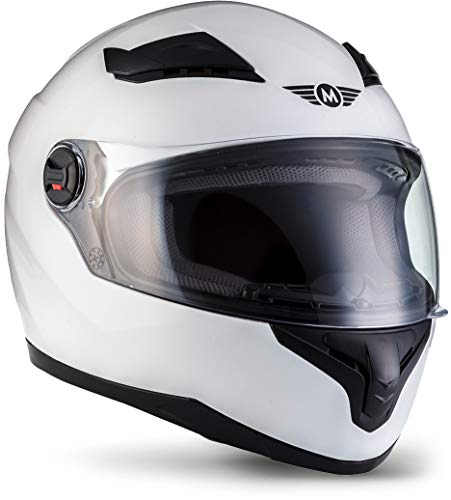 Moto Helmets X86 'Gloss White' · Integral-Helm · Full-Face Motorrad-Helm Roller-Helm Scooter-Helm...