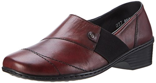 Rieker Damen 48254 Slipper, Rot (Wine/Wine / 35), 42 EU