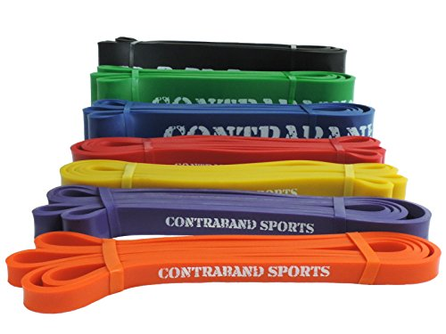 Contraband Sport 7419 Widerstand Bands, Gewichtheben, Powerlifting Bands, Bands, Pullup Bands, und Yoga Stretch Bands, #4 Blue Valeo Stretch Bands
