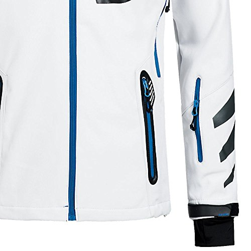 Geographical Norway Herren Softshelljacke Terouma abnehmbare Kapuze White/Blue