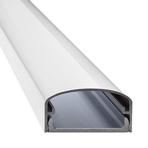 BIG MOUTH CANALETA PARA CABLES (ALUMINIO  LCD Y PLASMA  LONGITUDES: 30CM  50CM  75CM  100CM  COLOR BLANCO  4260128977448