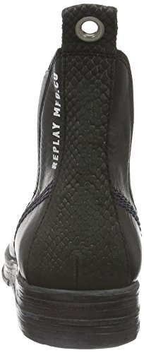 Replay Damen Bitter Chelsea Boots Schwarz (BLACK 3)