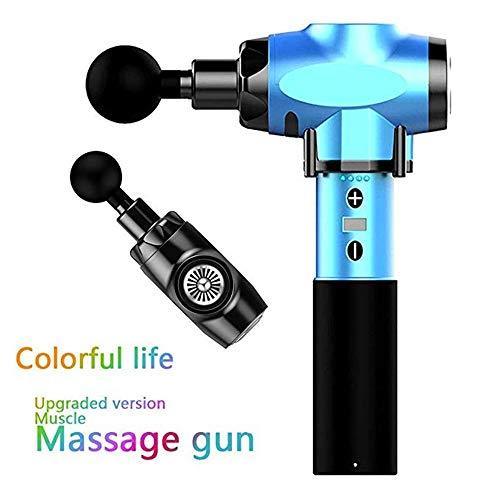 SMILE.STORE Professionelle Paar Geschenk muskelmassage Pistole led anzeige elektrische handmassagegerät für Tiefe muskelmassage fascial Relaxer schmerzlinderung,Schwarz -