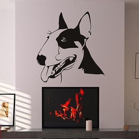 Bull Terrier Portrait Wall Stickers Dog Adesivo