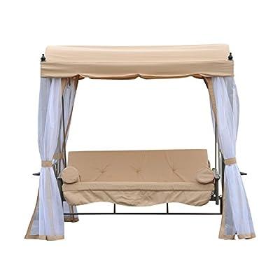 Outsunny® Hollywoodschaukel Gartenschaukel Schaukelbank Gartenliege Schaukel 3-Sitzer Metall von Outsunny auf Gartenmöbel von Du und Dein Garten