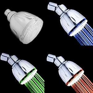 MLA Handdusche Zeitgenössisch LED ABS in A Klasse Chrom