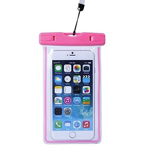 Ambielly Custodia impermeabile universale con schermo trasparente posteriore Custodia impermeabile Protector Windows Touch anteriore e reattivo per iPhone 6/6 Plus ed altri smartphones
