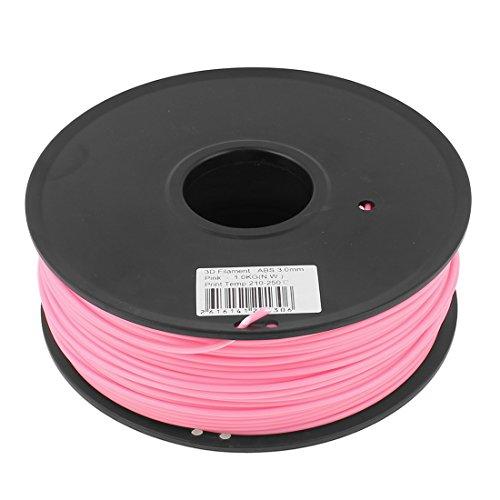 Preisvergleich Produktbild sourcingmap® Rosa 3mm ABS 1kg/2,2lb 3D Drucker Filament für RepRap Makerbot Huxley Up de