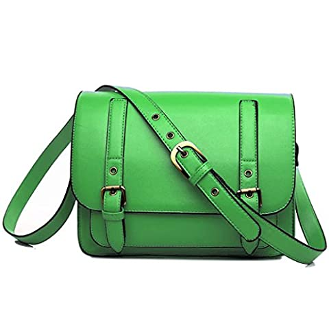 Miss Lulu , Damen Satchel-Tasche grün neon green