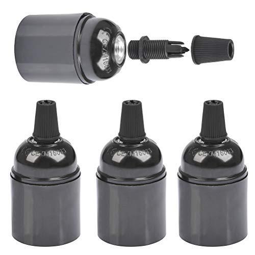 FOCCTS Set di 4Pezzi Adattatore della Lampadina E27 (φ38*H50mm) Convertitore di Attacco di Lampadina a E27 Portalampada con Attacco per Lampadina Vintage Impermeabile Isolato
