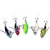 Domybest 5Pcs 12g Señuelos de Pesca pluma cebos aparejos de pesca
