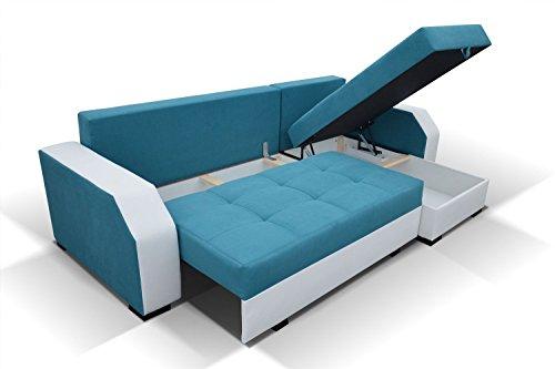 ARIS Ecksofa mit Schlaffunktion und Bettkasten in L-Form