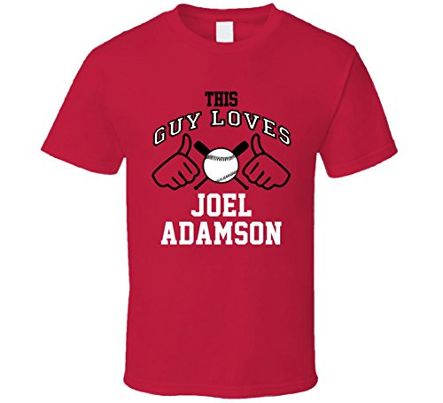 This Guy Loves Joel Adamson Arizona Baseball Player Classic T Shirt XLarge (Classic Shirt Arizona)