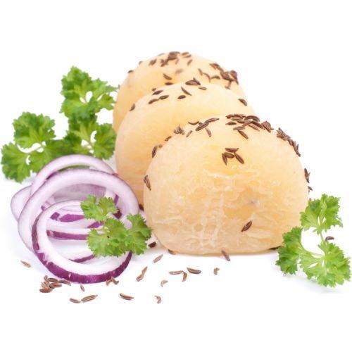 Harzer Käse | Handkäse mit Musik | fettarmer, pikanter und proteinreicher Sauermilchkäse | 3 Harzer Roller | insgesamt 12 Käsetaler | der fettärmste Käse überhaupt | mit und ohne Edelschimmel
