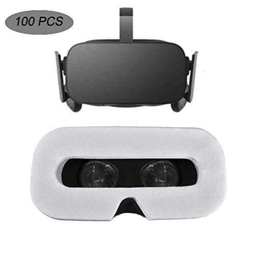 shewt 100 PCS Disposable VR Eye Mask,Maschera per Gli Occhi Universale Traspirante in Non Tessuto Traspirante e igienizzante for Oculus Quest/Rift s VR Headset/HTC Vive PRO/Valve Index