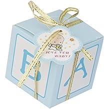 F Fityle 12 Unids Baby Shower Favor Gift Cajas De Pastel De Dulces para Niño Fiesta
