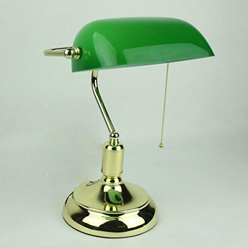 Classic Leinen Hut (GBT Classic Bankers Lamp Tisch Desk Light Poliertes Messing Grün Schatten Tilt Head (Led-Leuchten, Warmes Licht, Weißes Licht, Kronleuchter, Innenbeleuchtung, Außenleuchten, Wandleuchten))