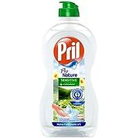 Pril Pro Nature Sensitive  mit dem Duft der Calendula – Umweltfreundliches Spülmittel, hohe Fettlösekraft, pH-hautneutral, frischer Duft, Flasche (500 ml)