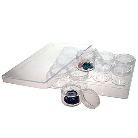 Petite Boite Rectangulaire - Coffret Plastique Rectangulaire Transparent Boîte de Rangement
