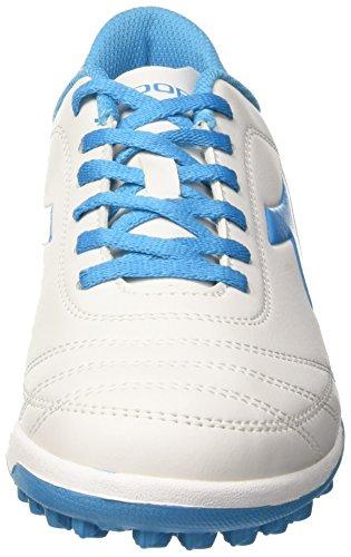 Diadora 650 Iii Tf, Scarpe per Allenamento Calcio Uomo Bianco (Bianco/Blu Fluo)