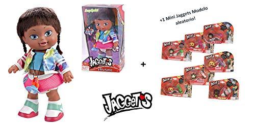 JGGETS Jaggets - Muñeca Suzy Sprint 14'/35cm en Caja (Famosa 700013785) + 1 Mini Luminosa Jaggets aleatoria 1'5'/4cm en Blister (Famosa 70014074)