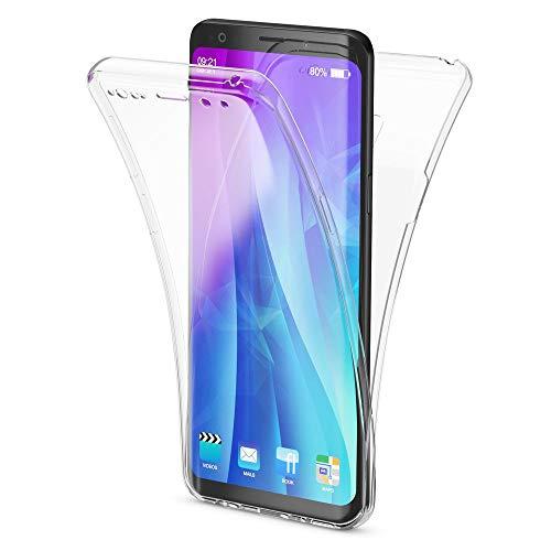 NALIA 360 Grad Hülle kompatibel mit Samsung Galaxy S9, Full Cover vorne & hinten Rundum Doppel-Schutz, Dünnes Ganzkörper Case Silikon Etui, Transparenter Displayschutz & Rückseite, Farbe:Transparent