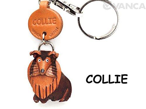 Leder-schlüsselanhänger-befestigung (Collie Aus Leder Klein Schlüsselanhänger VANCA Craft-Sammelfigur Schlüsselanhänger, Made in Japan)