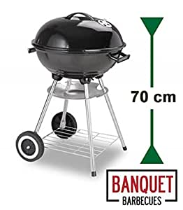 Barbecue tipo Kettle Banquet Essential con ruote