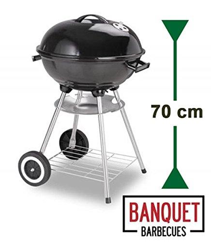 Barbecue tipo kettle banquet essential con ruote