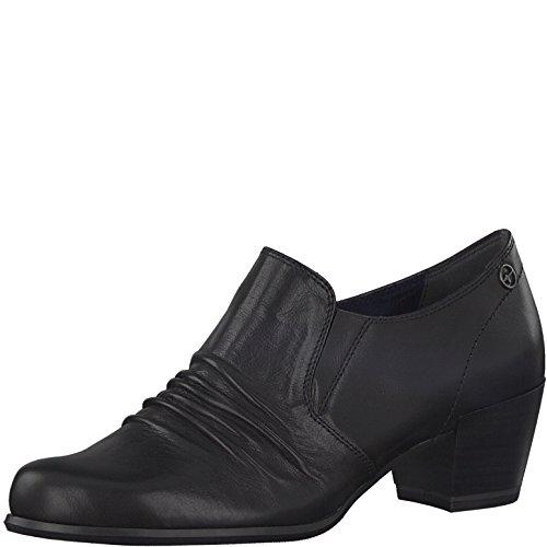 Tamaris Damen Slipper 24408-21,Frauen Schlüpfschuh,Slip-on,modisch,Freizeitschuh,Blockabsatz 5cm,Black,EU 38