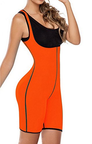 Foto de Weider Body Shaper Para Mujeres Corsé De Corsés Ropa Interior Combinada Abdomen Fajas, M, L, XL, XXL,Orange,S