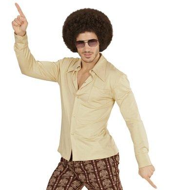 NEU Herren-Kostüm Hemd, beige, Gr. (Party Jahre Kostüm Siebziger)