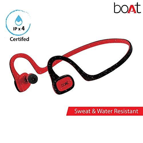 Boat Rockerz 245 in-Ear Sweat Proof Wireless Sports Running Earphones (Raging Red)