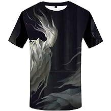 821fb9436 Camiseta de Calabaza de Halloween Camiseta 3D de Hombre Camiseta con  Estampado de árbol de Rock