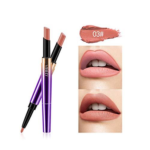 Kltipeng Doppel-Ende Lasting Lipliner wasserdicht Lip Liner Stick Bleistift 16 Farbe(C) -