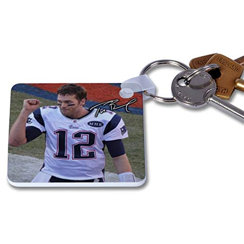 Tom Brady - New England Patriots - NFL 1 Novelty Keyring Printed Autographed Key Chain