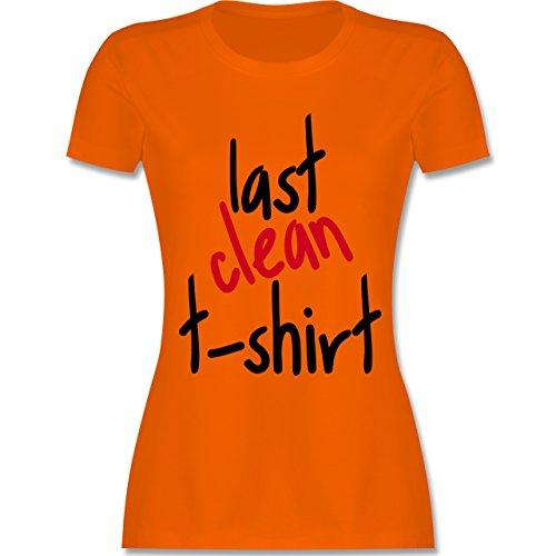 Festival - Last clean t-shirt - tailliertes Premium T-Shirt mit Rundhalsausschnitt für Damen Orange