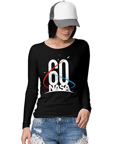 BLAK TEE Official NASA 60th Anniversary Logo Damen Langarmshirt L (Sun Star Industries)
